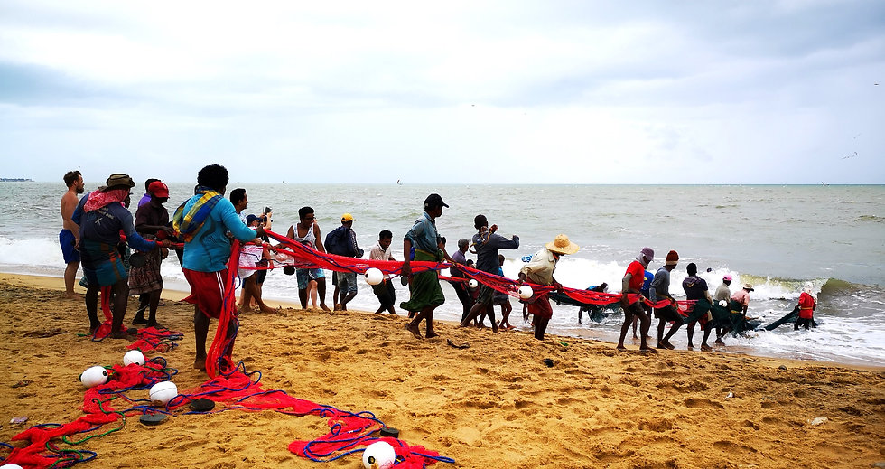 Fishermen, Negombo beach, Sri Lanka