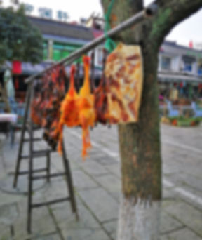 Wind dried pork in Hangzhou