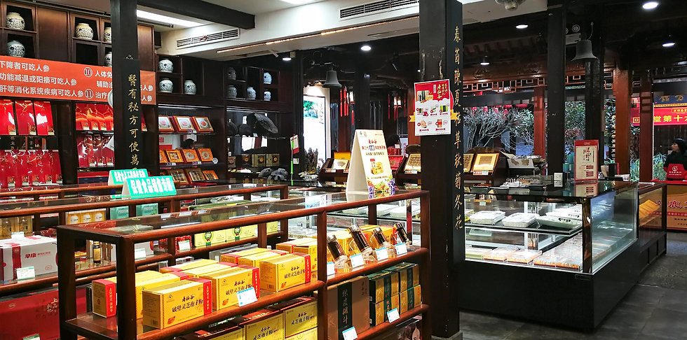 Traditional pharmacy shop at Hefang street