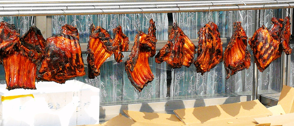 Wind dried pork at Xianghu
