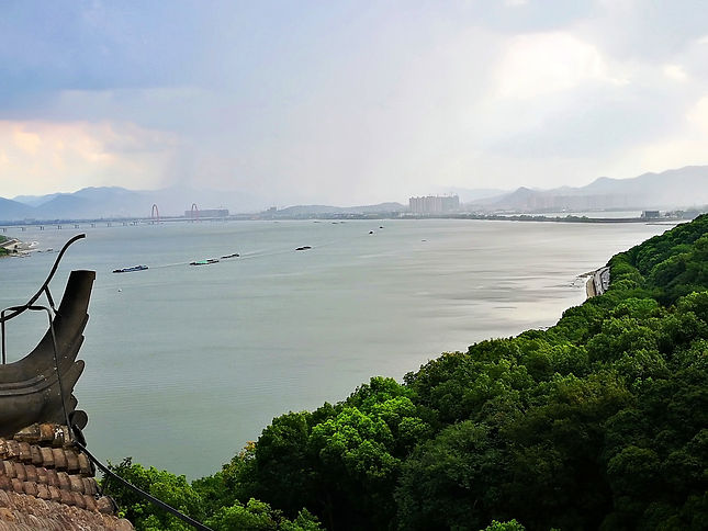 Six harmonies pagoda, view, Hangzhou