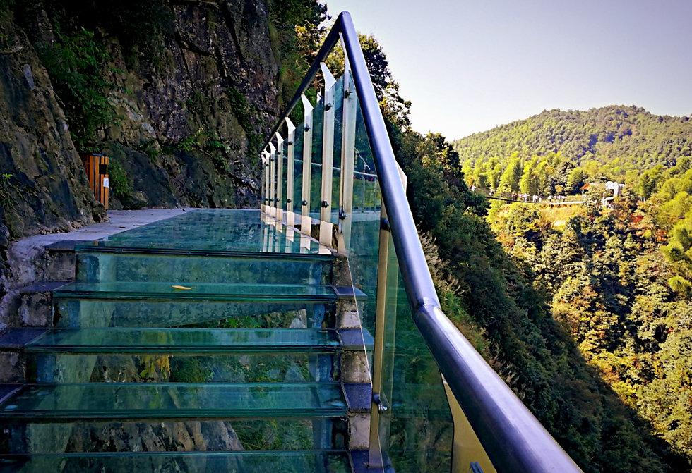 Glass walkway, China