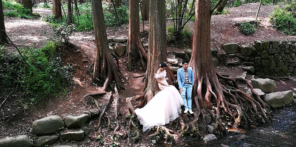 Wedding photo at Nine creeks, Hangzhou