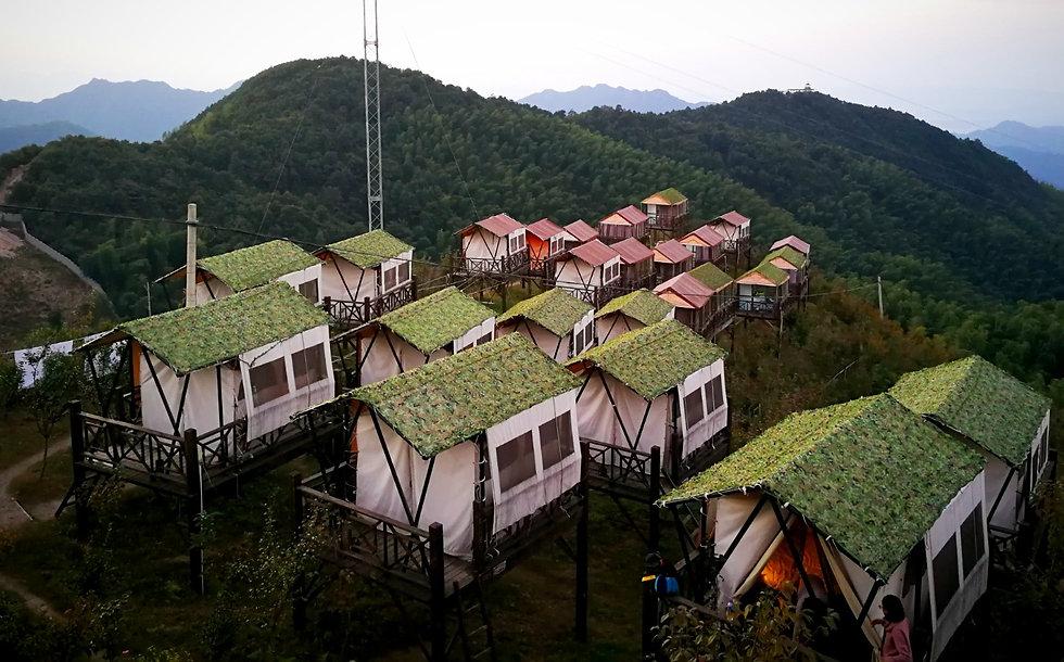 Luxury tent hotel, China
