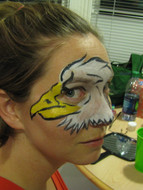 Adult face painting, Sevier County, TN