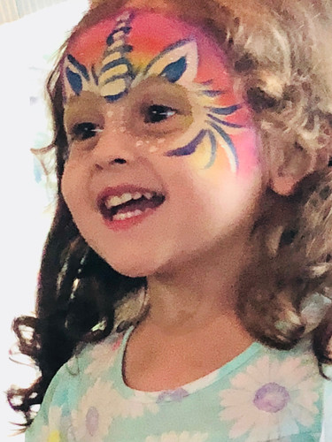 Magical unicorn face paint Farragut TN