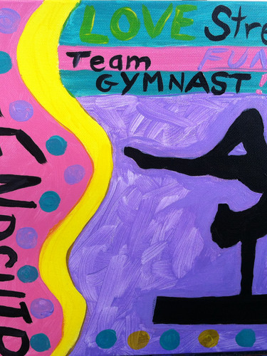 Girls gymnastics art party
