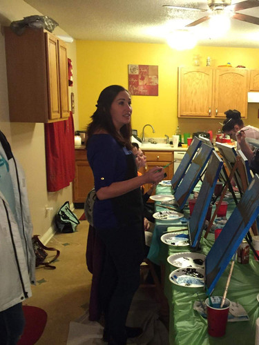 Teenagers birthday party, paint your own canvas party Knoxville TN