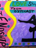 Little gymnastics themed birthday paint party