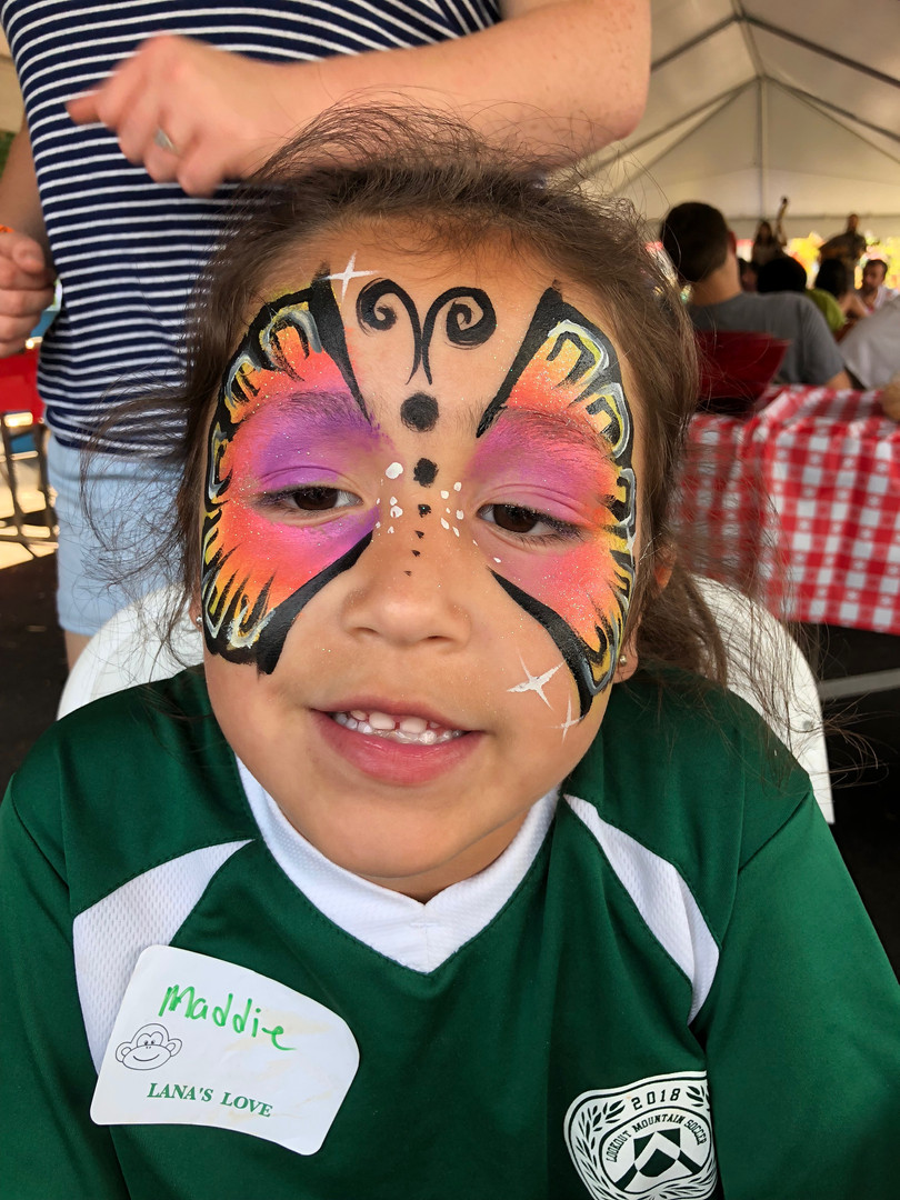 Butterfly face painting in Chattanooga TN