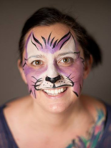 Adults love face paint too in Knoxville TN