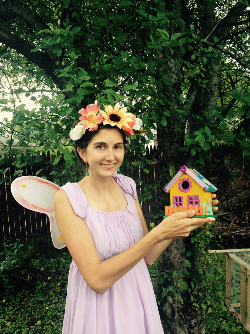 Fairy Violet will help you create your own fairy house to take home
