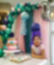 East Tennessee Balloon Decor, Mermaid party, Organic balloon garland