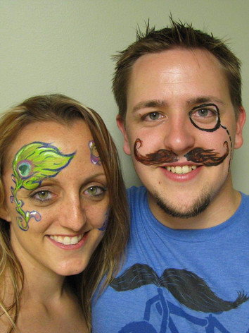 Adult face painting Knoxville TN