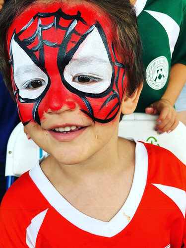 Superhero face painter for your birthday party in Eastern TN