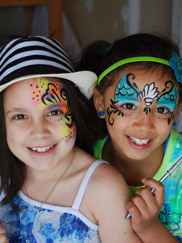 Craft and face paint package, magic wand painting