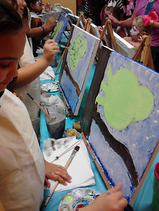 Kid's Birthday party, paint party, Knoxville TN