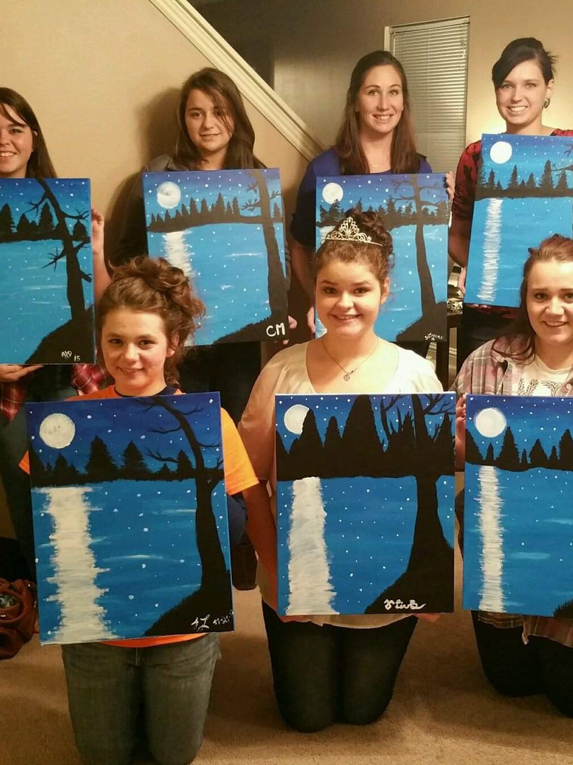Teens loved this paint party sleepover