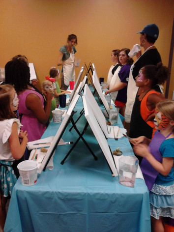 Imagination Jubilation! balloon twisting, face painting, paint party, arts and crafts parties, Knoxville, Maryville, Sevierville area