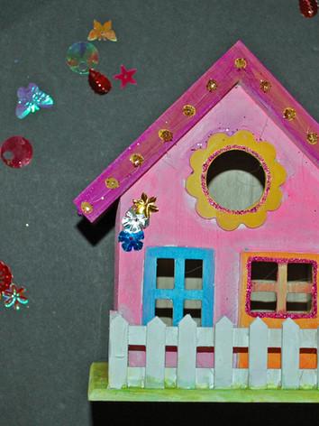 Fairy craft, paint your own fairy house
