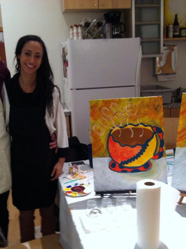 Date night canvas painting party Knoxville TN