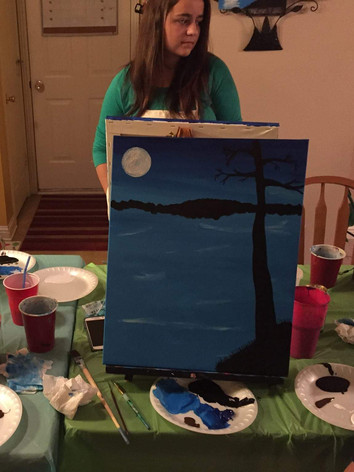 Canvas painting party, Knoxville TN