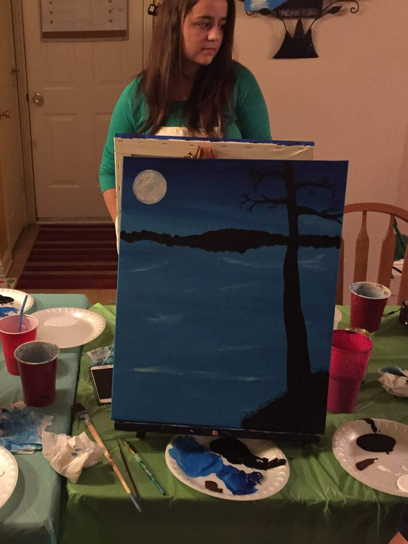 Paint and art party