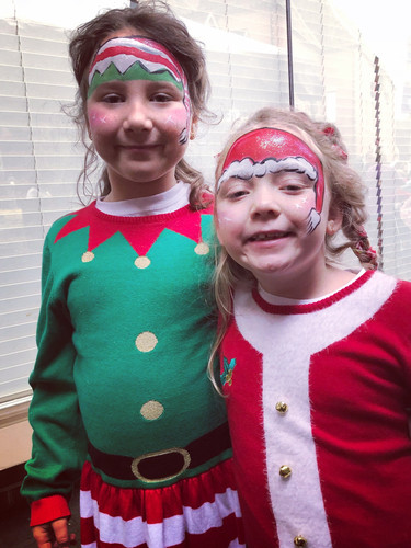 It's Mrs. Clause and an elf helper!