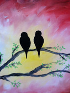 Love birds paint party example