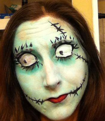 Halloween creepy scary makeup services Knoxville, Blount, Sevier County