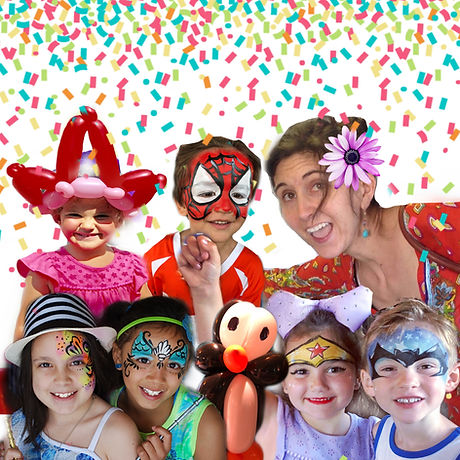 Imagination Jubilation! balloon twisting, face painting, balloon decor, party favors, gifts, candy cups, glitter tattoos, party entertainment, birthday party, Knoxville, Maryville, West Hills, Sevierville, Pigeon Forge, Gatlinburg, Event services, kid's parties, balloon bouquets, Valentine's Day,  Get Well, Mother's Day
