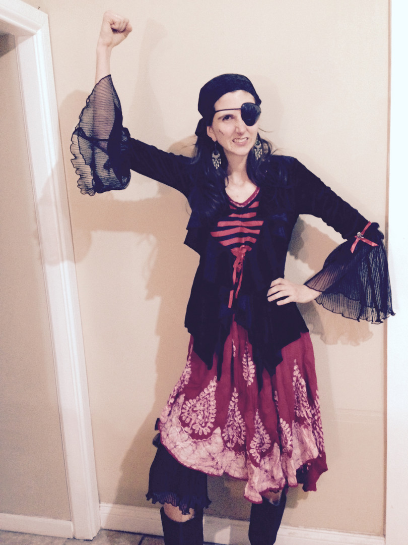 Carmen the Pirate brings aaaarrg! good time to your event!