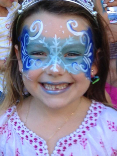 Girl's birthday party face painting in Knoxville TN