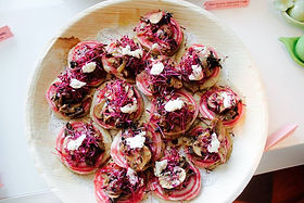 Blini's with Wild Mushrooms, Candy Beetr