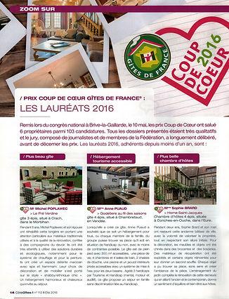 PELLA ROCA COUP DE COEUR GITES DE FRANCE 2016