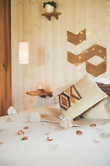 Belle cabane spa ambiance cosy