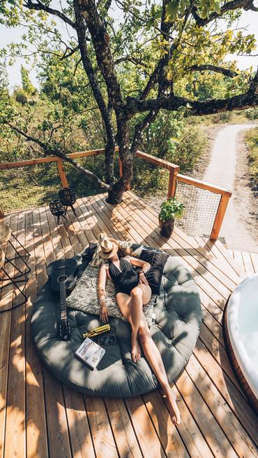 se relaxer, lire, deconneceter...à PELLA ROCA