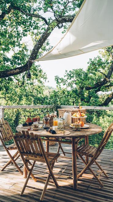 rien de mieux qu'un brunch en terrasse pour commencer la journée