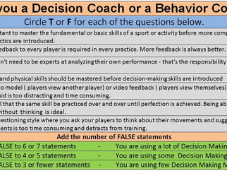 What type of coach are you? A Behavior Trainer or a Decision Trainer?