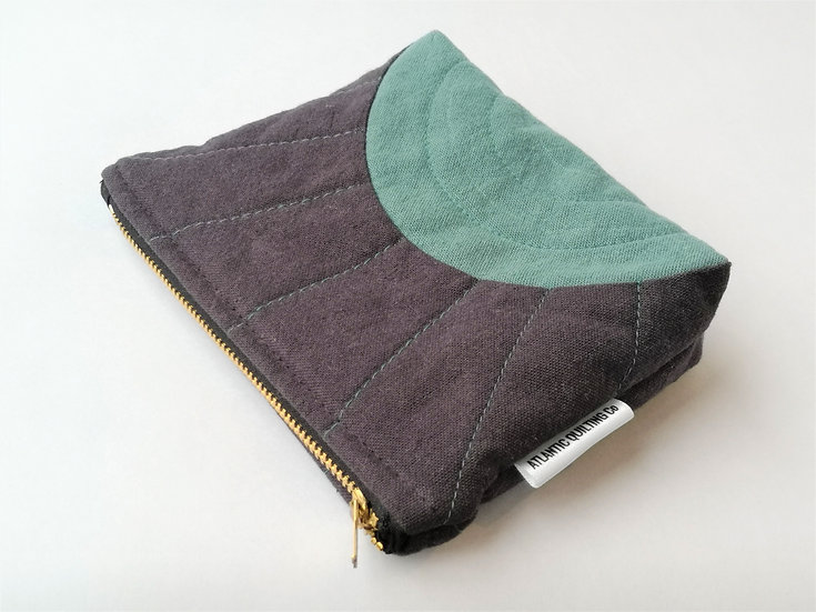 Small Quilted Zipper Pouch 11