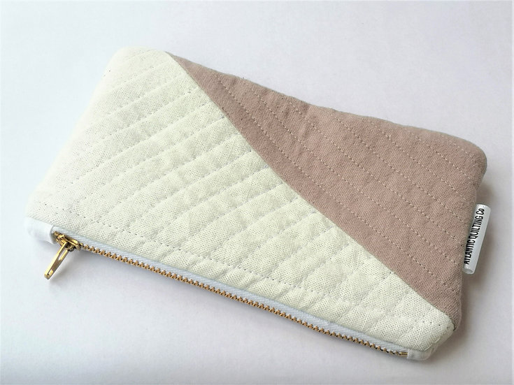 Small Quilted Zipper Pouch 06