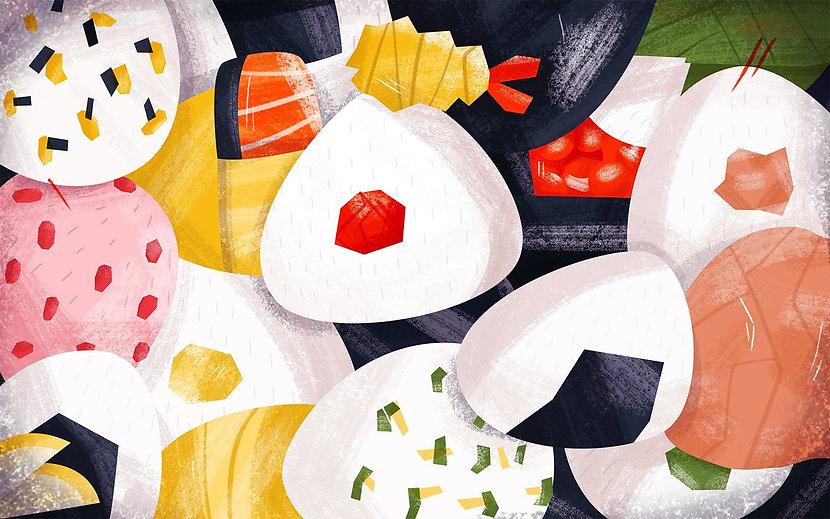 оригинальный кэтеринг для вашей вечеринки - Онигири - японский рисовый сэндвич