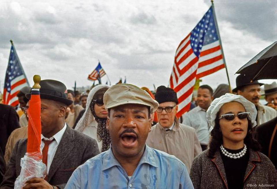 Martin Luther King JR and friends