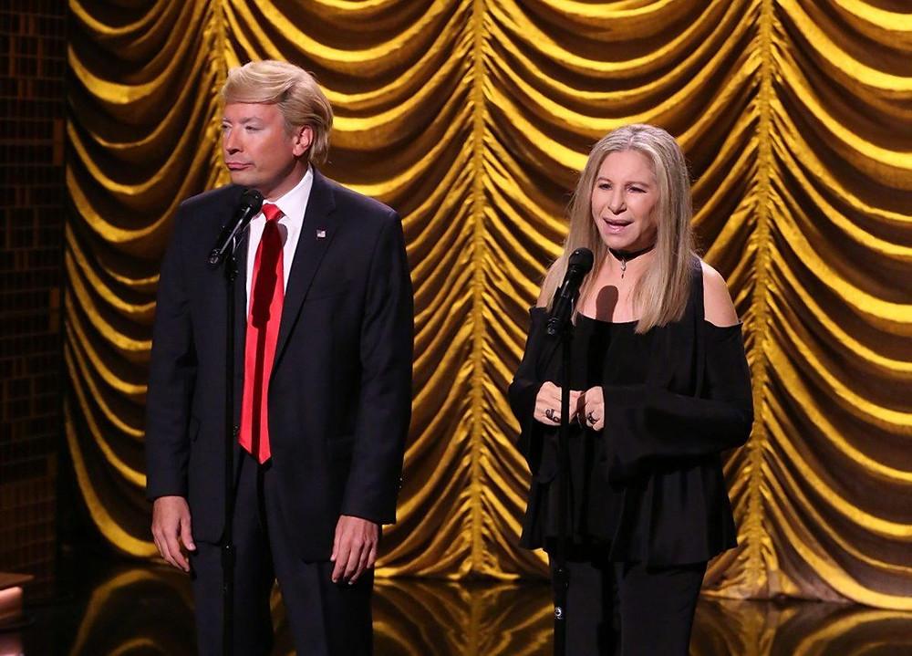 Donald Trump and Barbra Streisand