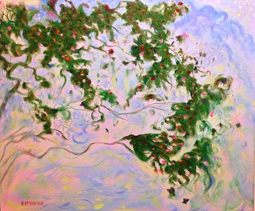 Rosebush, Errol McKinson Oil on Canvas 24x18