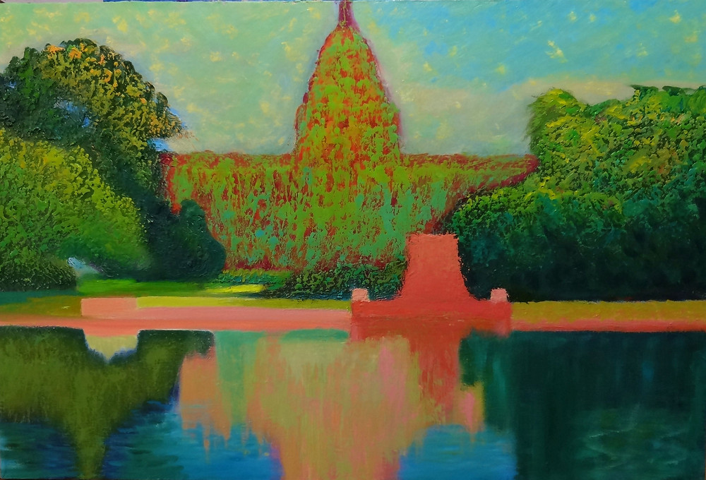 The Capitol V Oil on Canvas 22 x 30