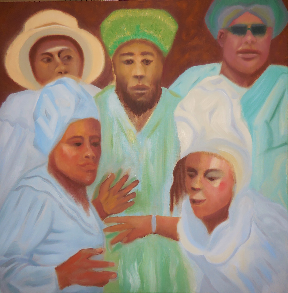 Errol McKinson - Revivalism Oil on canvas 24x24