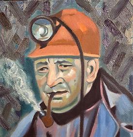 Coal Miner - Jake the Foreman Oil on Canvas GW 12 x 12 x2.JPEG