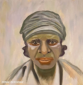 Coal Miner - Dorothy the Pit Brow Ripper. Oil on DaVinci Pro Grip Textured Gesso Panel 12