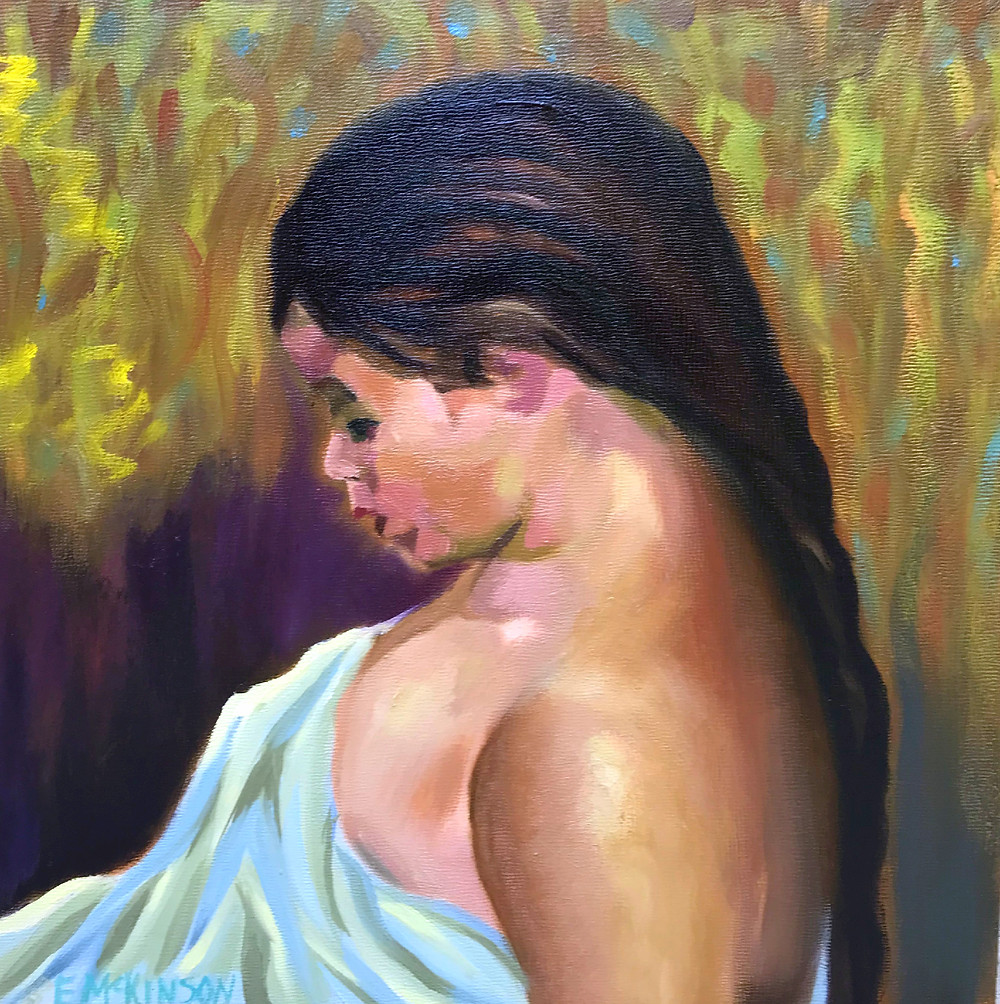 Charmaine Oil on Panel 12 x 12